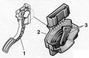 Сенсорный датчик педали акселератора